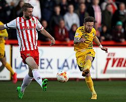Matt Taylor of Bristol Rovers shoots - Mandatory by-line: Robbie Stephenson/JMP - 19/04/2016 - FOOTBALL - Lamex Stadium - Stevenage, England - Stevenage v Bristol Rovers - Sky Bet League Two