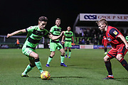Forest Green Rovers Liam Shephard(2) during the EFL Sky Bet League 2 match between Forest Green Rovers and Grimsby Town FC at the New Lawn, Forest Green, United Kingdom on 22 January 2019.