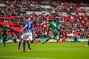 Goal 1-0 Cray Valley's Gavin Tomlin (9) scores a goal during the FA Vase final match between Chertsey Town and Cray Valley at Wembley Stadium, London, England on 19 May 2019.
