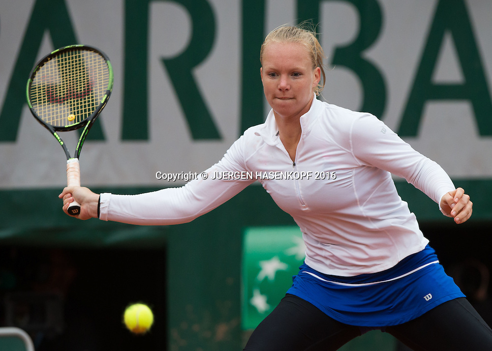 Kiki Bertens (NED)<br /> <br /> Tennis - French Open 2016 - Grand Slam ITF / ATP / WTA -  Roland Garros - Paris -  - France  - 2 June 2016.