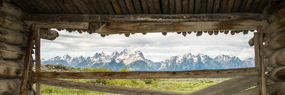 The J. P. Cunningham Cabin is a double-pen log cabin located in Grand Teton National Park.  Built around 1888, the cabin served as the Cunningham's home and the center of their 250 acre ranch where they raised cattle and grew feed crops.  After 1895 the cabin was used as a smithy and as a barn.  A shootout occurred their in 1899 between two horse thieves and a Montana posse.  The thieves lost - and were buried nearby.