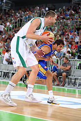 Uros Slokar of Slovenia at friendly match between Slovenia and Croatia for Adecco Cup 2011 as part of exhibition games before European Championship Lithuania on August 9, 2011, in SRC Stozice, Ljubljana, Slovenia. (Photo by Urban Urbanc / Sportida)