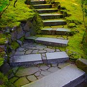 Path through Japanese Garden - Portland, OR
