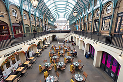© Licensed to London News Pictures. 17/03/2020. London, UK.  Covent Garden is empty of visitors as the Coronavirus outbreak spreads in London. Photo credit: Ray Tang/LNP
