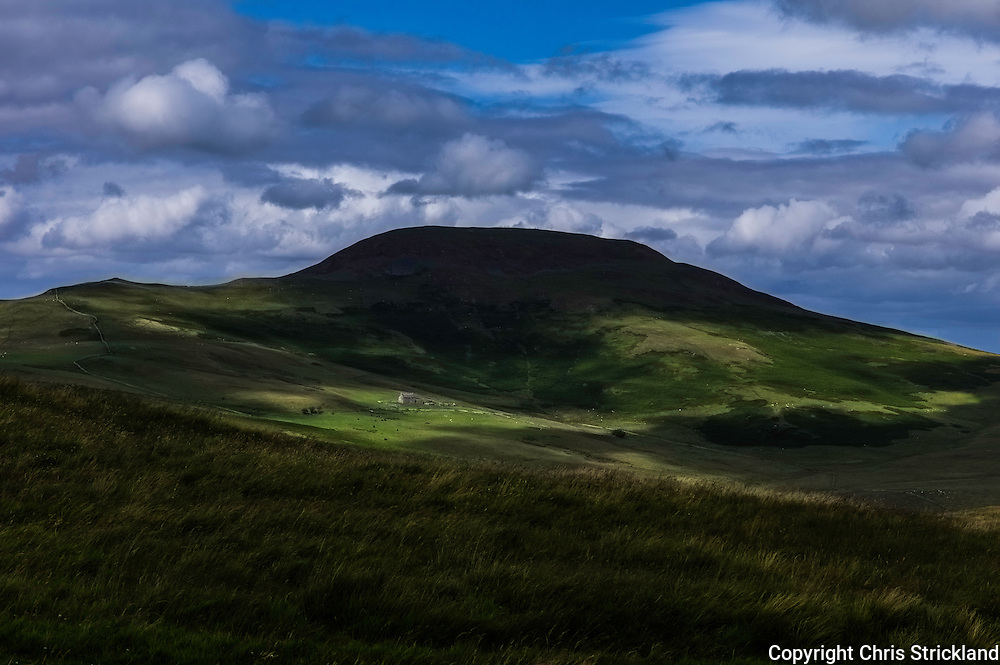 Windy Law, Hownam, Scottish Borders, UK. 4th August 2015. Looking north at Hownam Law (449m).