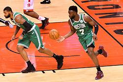 October 19, 2018 - Toronto, Ontario, Canada - Jaylen Brown #7 of the Boston Celtics runs with the ball during the Toronto Raptors vs Boston Celtics NBA regular season game at Scotiabank Arena on October 19, 2018 in Toronto, Canada (Toronto Raptors win 113-101) (Credit Image: © Anatoliy Cherkasov/NurPhoto via ZUMA Press)