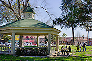 Gazebo in the City Park Plaza, Paso Robles, San Luis Obispo County, California