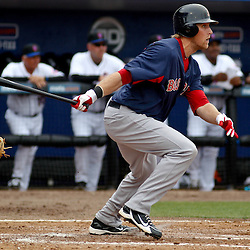 March 6, 2011; Port St. Lucie, FL, USA; Boston Red Sox first baseman Lars Anderson (78) during a spring training exhibition game against the New York Mets at Digital Domain Park.  Mandatory Credit: Derick E. Hingle