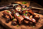 Grab ahold of these fall of the bone Barbueced Ribs with an asian twist created by Chef Ray Willey of Take the Night Off in Ft. Lauderdale, Florida. Photography by Jeffrey A McDonald