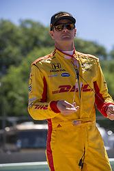 June 23, 2018 - Elkhart Lake, Wisconsin, United States of America - RYAN HUNTER-REAY (28) of the United States hangs out on pit road prior to taking to the track to practice for the KOHLER Grand Prix at Road America in Elkhart Lake, Wisconsin. (Credit Image: © Justin R. Noe Asp Inc/ASP via ZUMA Wire)