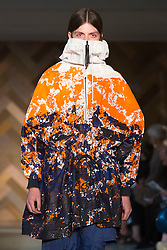 © Licensed to London News Pictures. 29/05/2014. London, England. Collection by Raj Mistry. 30 students of the Royal College of Art's prestigious MA Fashion programme presented their final collections in  a runway show at the RCA building in Kensington. Photo credit: Bettina Strenske/LNP