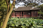 Mandarin Duck Hall in the Humble Administrator's garden in Suzhou, China.