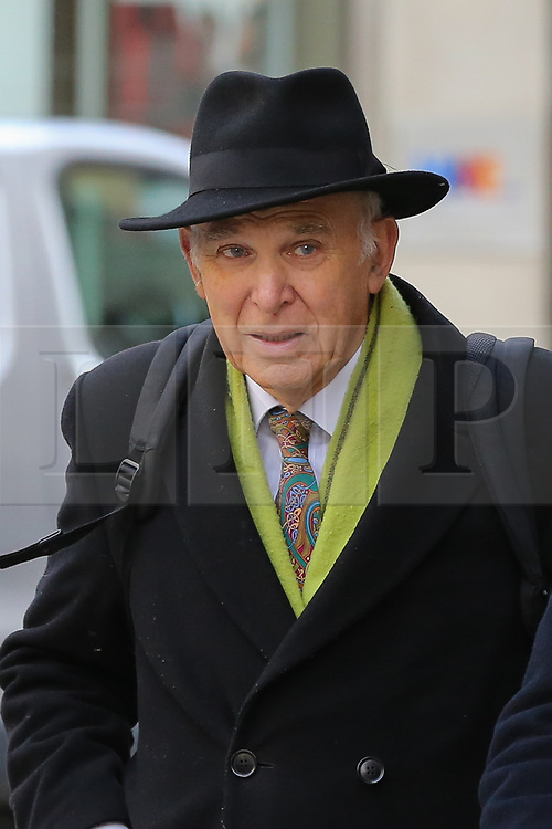 © Licensed to London News Pictures. 30/10/2019. London, UK. Former Leader of the Liberal Democrats VINCE CABLE arrives for Best for Britain press conference in Westminster where a study of how the UK will vote on 12 December 2019 UK general election, showing how many seats each party are projected to win will be highlighted. Photo credit: Dinendra Haria/LNP