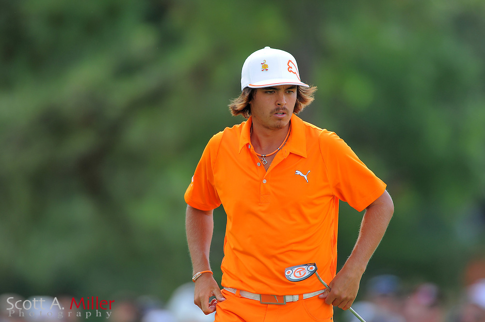 Rickie Fowler during the final round of the Wells Fargo Championship at the Quail Hollow Club on May 6, 2012 in Charlotte, N.C. ..©2012 Scott A. Miller.
