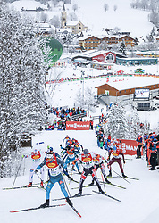 16.12.2017, Nordische Arena, Ramsau, AUT, FIS Weltcup Nordische Kombination, Langlauf, im Bild Francois Braud (FRA), Startnummer 17, und weitere Teilnehmer // Francois Braud of France, BIB number 17, and other competitors during Cross Country Competition of FIS Nordic Combined World Cup, at the Nordic Arena in Ramsau, Austria on 2017/12/16. EXPA Pictures © 2017, PhotoCredit: EXPA/ Martin Huber