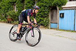 Barbara Guarischi (CANYON//SRAM Racing) speeds through a village at Thüringen Rundfarht 2016 - Stage 2 a 103km road race starting and finishing in Erfurt, Germany on 16th July 2016.