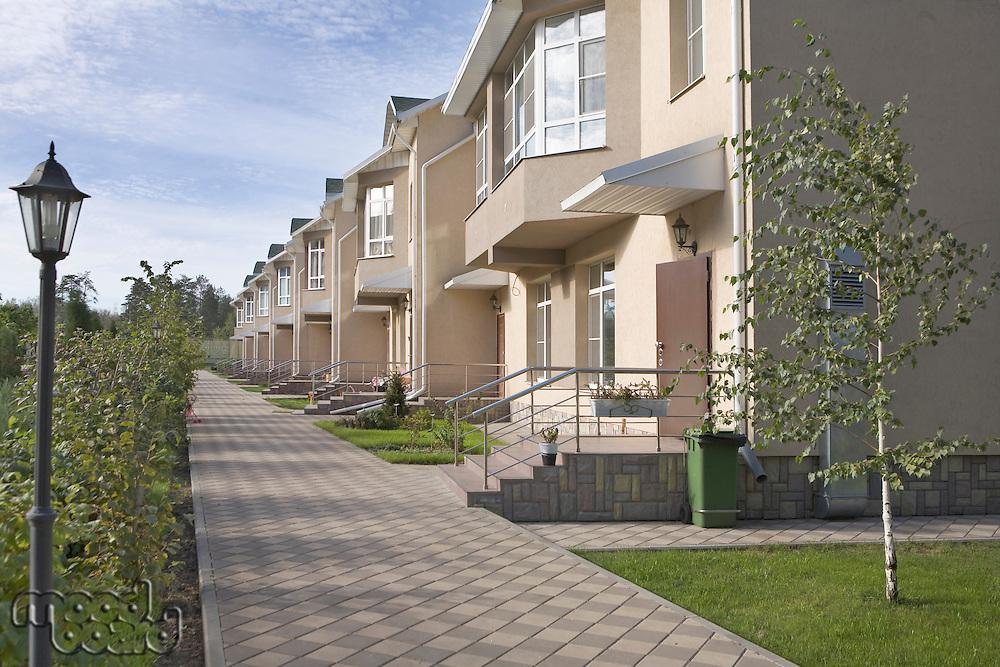 Footpath in new housing development