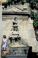 France - Provence - Bouche du Rhone - St. Rémy de Provence - Fontaine Nostradamus