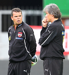 02.06.2011, Ernst Happel Stadion, Wien, AUT, UEFA EURO 2012, Qualifikation, Abschlusstraining Oesterreich (AUT), im Bild Manfred Zsak, (AUT, Co-Headcoach) und Didi Constantini, (AUT, Headcoach)  // during the final training from Austria for the UEFA Euro 2012 Qualifier Game, Austria vs Germany, at Ernst Happel Stadium, Vienna, 2010-06-02, EXPA Pictures © 2011, PhotoCredit: EXPA/ T. Haumer