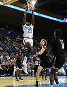 Nov 6, 2019; Los Angeles, CA, USA; UCLA Bruins guard Prince Ali (23) shoots the ball in the second half against Long Beach State at Pauley Pavilion. UCLA defeated Long Beach State 69-65.