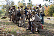 Arkansas, AR, USA, Old Washington State Park, Civil War Weekend. Safety inspections before the battle