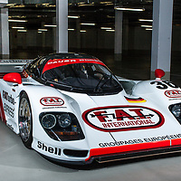 1994 Dauer Porsche 962 LM GT, chassis 001 at the Porsche Museum, Stuttgart, Germany, 2019
