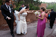 The Santa Fe destination wedding of Jake and Whitney at Bishops Lodge in Northern New Mexico.
