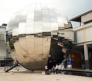 Large 'disco' mirror ball, Millenium Square, Bristol