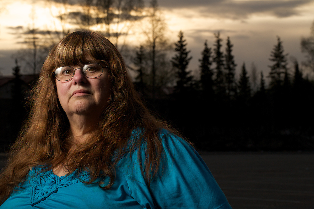 ANCHORAGE, ALASKA - MAY 2013: Peggy Giles friend of James Koenig. Peggy and James work together to help families find their missing loved ones.