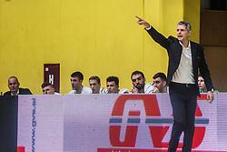Zoran Martic head coach of KK Olimpija during basketball match between KK Union Olimpija and KK Krka Novo Mesto in 1st Round of Nova KBM league, on October 11, 2018, in SD Leona Stuklja, Novo Mesto, Slovenia. Photo by Grega Valancic / Sportida