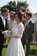 RUPERT PENRY-JONES; ANNA FRIEL, Glorious Goodwood. Thursday.  Sussex. 3 August 2013