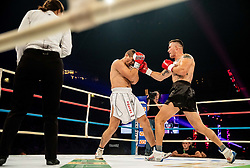 Abel Pešut of Croatia (black) vs Luka Stajić of Serbia (white) during their heavyweight fight at CFC 5 Fighting event, on October 6, 2019 in Arena Stozice, Ljubljana, Slovenia. Photo by Vid Ponikvar / Sportida