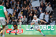 Patrick Lambie (Racing 92) scored a try during the French Championship Top 14 Rugby Union match between Racing 92 and La Rochelle on february 18, 2018 at U Arena in Nanterre, France - Photo Stephane Allaman / ProSportsImages / DPPI