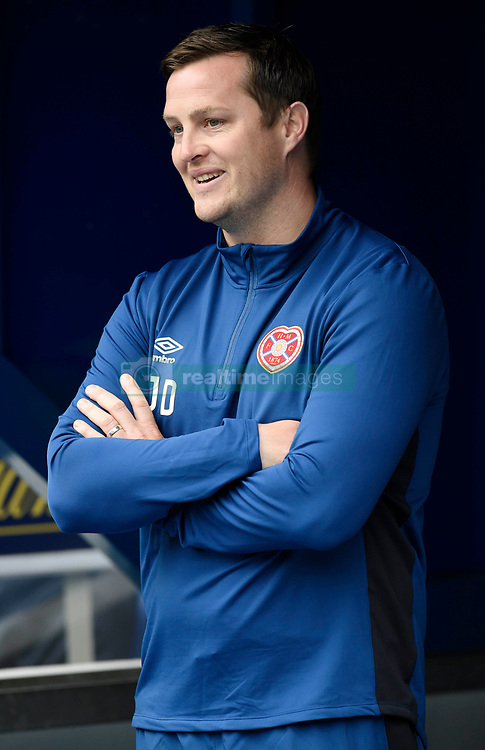 """Hearts interim manager Jon Daly looks out from the tunnel entrance before the Scottish Premiership match at Ibrox, Glasgow. PRESS ASSOCIATION Photo. Picture date: Saturday August 19, 2017. See PA story SOCCER Rangers. Photo credit should read: Ian Rutherford/PA Wire. RESTRICTIONS: EDITORIAL USE ONLY No use with unauthorised audio, video, data, fixture lists, club/league logos or """"live"""" services. Online in-match use limited to 75 images, no video emulation. No use in betting, games or single club/league/player publications."""