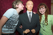 Jaroslawl. Waxworks exhibition. Girls with likeness of President Vladimir Putin....A river cruise from Moscow to St. Petersburg aboard MS Kazan, the most luxurious vessel (four star plus) operating in Russia. It is run by Austrian River Cruises under strictly Western standards, chartered - amongst others - by Club 50, a senior's travel agency based in Vienna.
