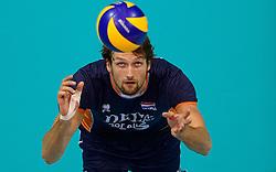 20150619 NED: World League Nederland - Portugal, Groningen<br /> De Nederlandse volleyballers hebben in de World League ook hun derde duel met Portugal gewonnen. Na de uitzeges van half mei was Oranje in Groningen met 3-0 te sterk: 25-18, 25-21, 25-23 / Thomas Koelewijn #15