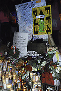 Dec. 1, 2013 - CA, USA -<br /> <br /> Paul Walker Crash Site Becomes Memorial<br /> <br /> U.S - Candles and signs are seen at the memorial site for Actor PAUL WALKER, who died in a car accident in Valencia,<br /> ©exclusivepix