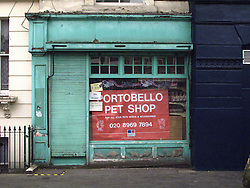 UK ENGLAND LONDON 20JUL13 - Closed down Portobello Pet Shop, near Portobello Market, west London.<br /> <br /> <br /> <br /> jre/Photo by Jiri Rezac<br /> <br /> <br /> <br /> © Jiri Rezac 2013