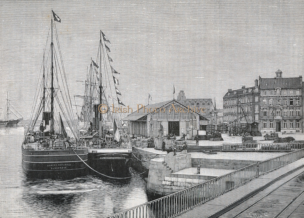 Quay at Dunkirk (Dunkerque) in 1893.