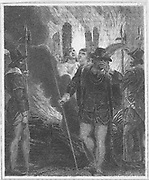 Five Protestant martyrs burnt at the stake at Canterbury, 31 January 1556,  during the reign of the Roman Catholic Mary I for refusing to deny their faith. The queen became known as Bloody Mary for her persecution of her Protestant subjects. Copperplate e