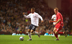 BIRMINGHAM, ENGLAND - Monday, October 13, 2008: England's Fraizer Campbell and Wales' Jack Collison during the UEFA European Under-21 Championship Play-Off 2nd Leg match at Villa Park. (Photo by Gareth Davies)