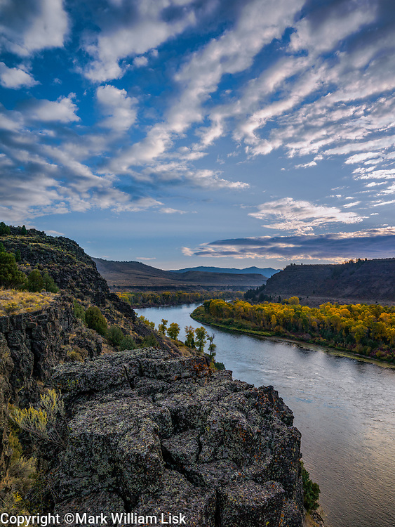 Fall in the Wolf Flat recreation area, on the South Fork of the Snake River.