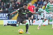 Forest Green Rovers Reece Brown(10) shoots at goal during the EFL Sky Bet League 2 match between Yeovil Town and Forest Green Rovers at Huish Park, Yeovil, England on 8 December 2018.