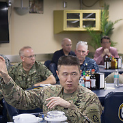 WEDNESDAY, OCTOBER 4- 2017--- - SAN JUAN, PUERTO RICO - <br /> US ARMY Brigadier General Richard Kim, asks questions while  to visiting the US Naval Hospital Ship Comfort at the Port of San Juan where it started treating patients affected by Hurricane Maria.<br /> (Photo by Angel Valentin for NPR)