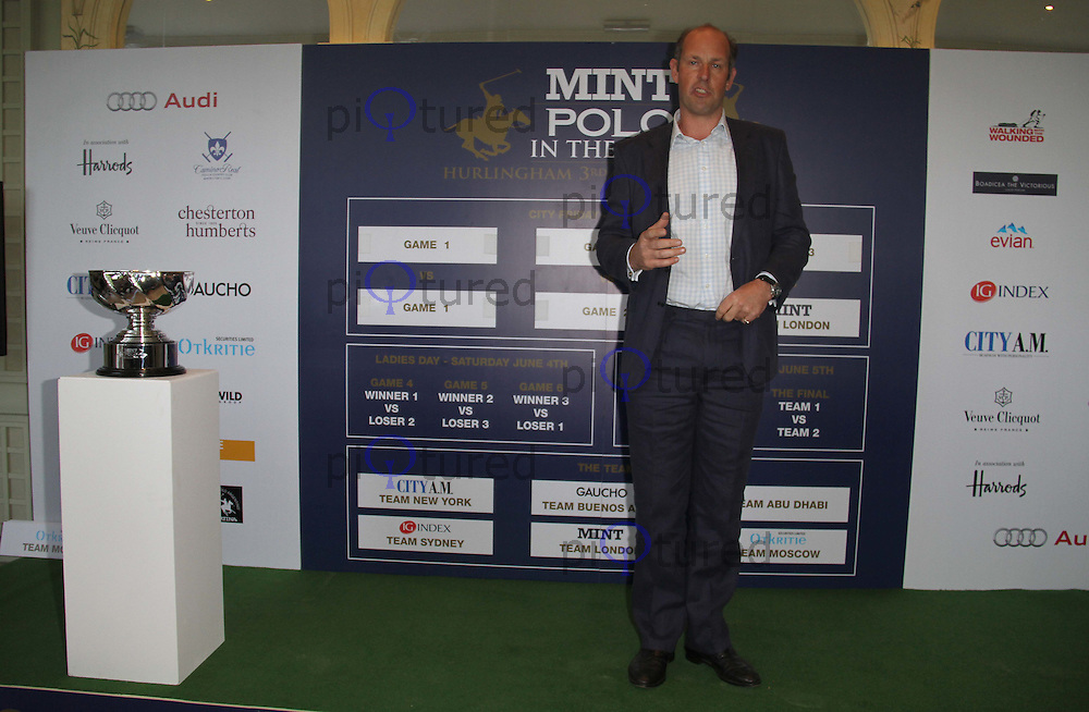 Ed Parker, Founder of Walking With The Wounded MINT Polo In the Park, The Hurlingham Club, London, UK, 10 May 2011:  Contact: Rich@Piqtured.com +44(0)7941 079620 (Picture by Richard Goldschmidt)
