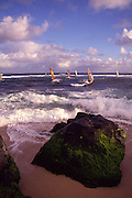 Windsurfers, Hookipa, Maui, Hawaii<br />