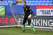 MK Dons goalkeeper David Martin  during the Sky Bet Championship match between Bolton Wanderers and Milton Keynes Dons at the Macron Stadium, Bolton, England on 23 January 2016. Photo by Simon Davies.