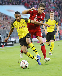 06.04.2019, Allianz Arena, Muenchen, GER, 1. FBL, FC Bayern Muenchen vs Borussia Dortmund, 28. Runde, im Bild Abdou Diallo und Java Maritinez // during the German Bundesliga 28th round match between FC Bayern Muenchen and Borussia Dortmund at the Allianz Arena in Muenchen, Germany on 2019/04/06. EXPA Pictures © 2019, PhotoCredit: EXPA/ SM<br /> <br /> *****ATTENTION - OUT of GER*****