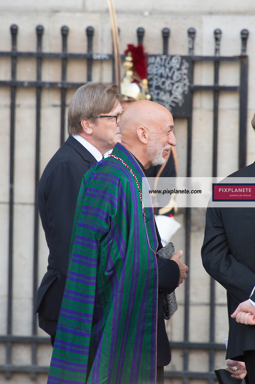 Hamid Karzai President Afghan Obsèques de Jacques Chirac Lundi 30 Septembre 2019 église Saint Sulpice Paris