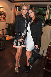 Left to right, LADY ALEXANDRA SPENCER-CHURCHILL and TALI SHINE at a party to celebrate the launch of the new Mauritius Collection of jewellery by Forbes Mavros held at Patrick Mavros, 104-106 Fulham Road, London SW3 on 5th July 2011.
